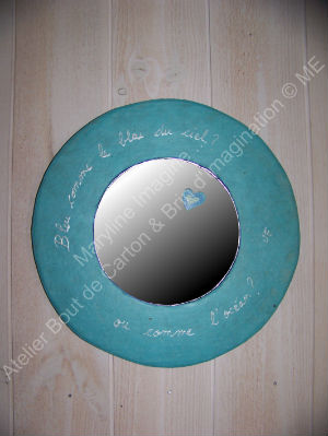 Miroir rond bleu me boutique marylineimagineboutique for Mini miroir rond